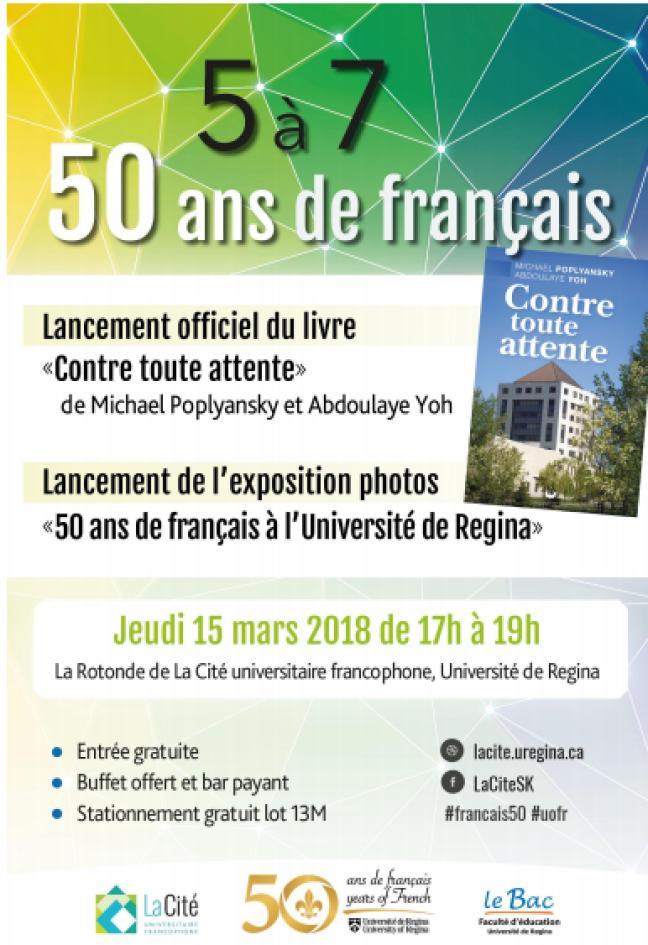 Affiche - 5 à 7 '50 ans de français'