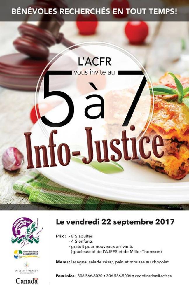 Affiche - 5 à 7 à Regina - Info justice