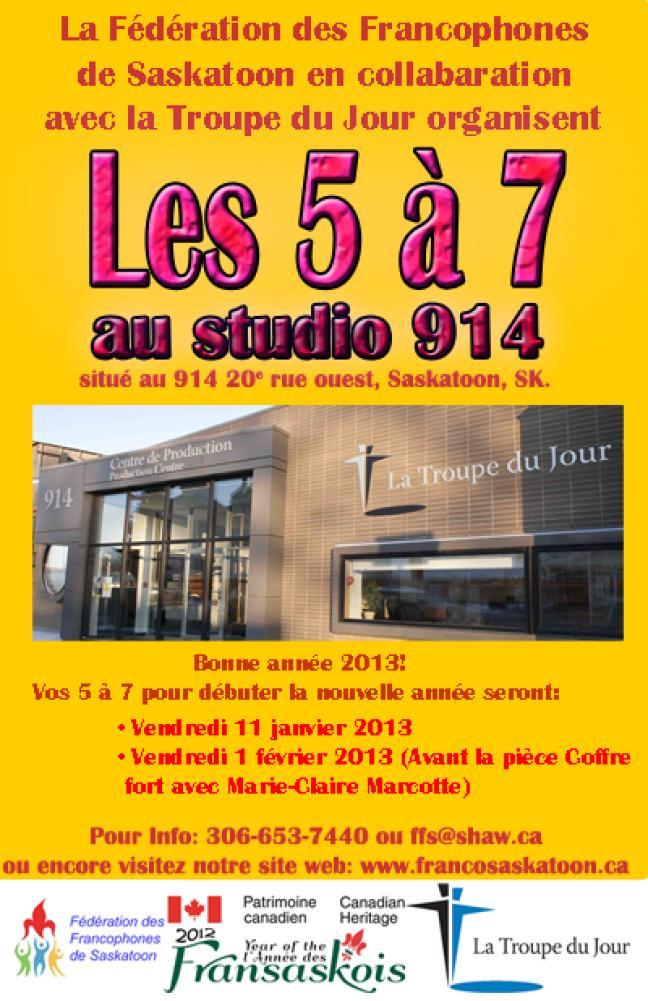 Affiche -  5 à 7 au studio 914