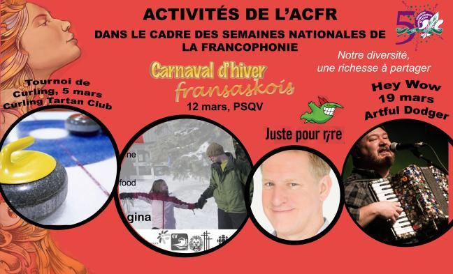 Affiche - Activités de l'ACFR pour les semaines nationales de la Francophonie