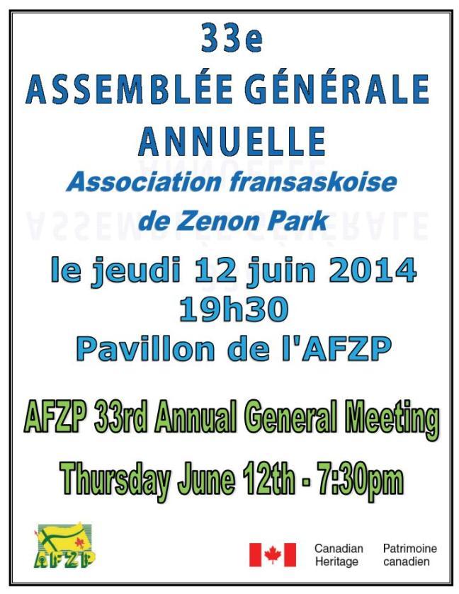 Affiche - AGA de l'AFZP