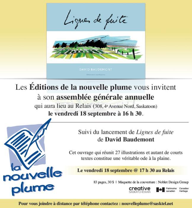 Affiche - AGA des Éditions de la nouvelle plume