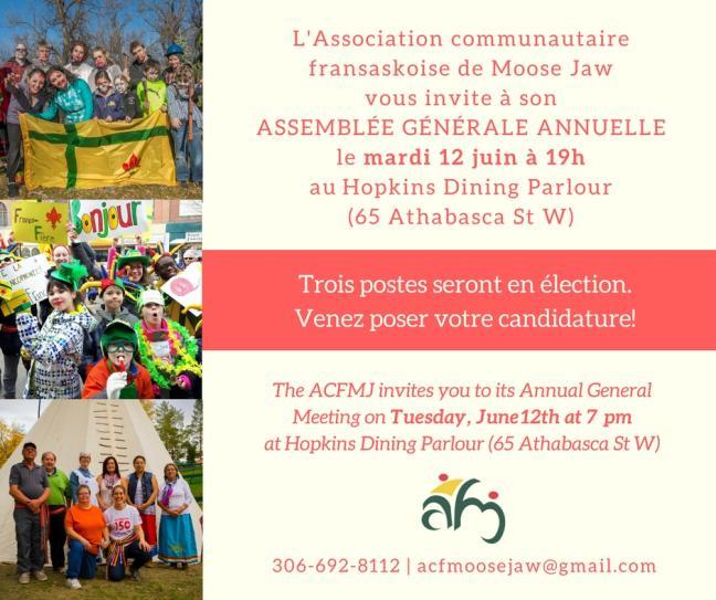 Affiche - Assemblée générale annuelle de l'ACFMJ