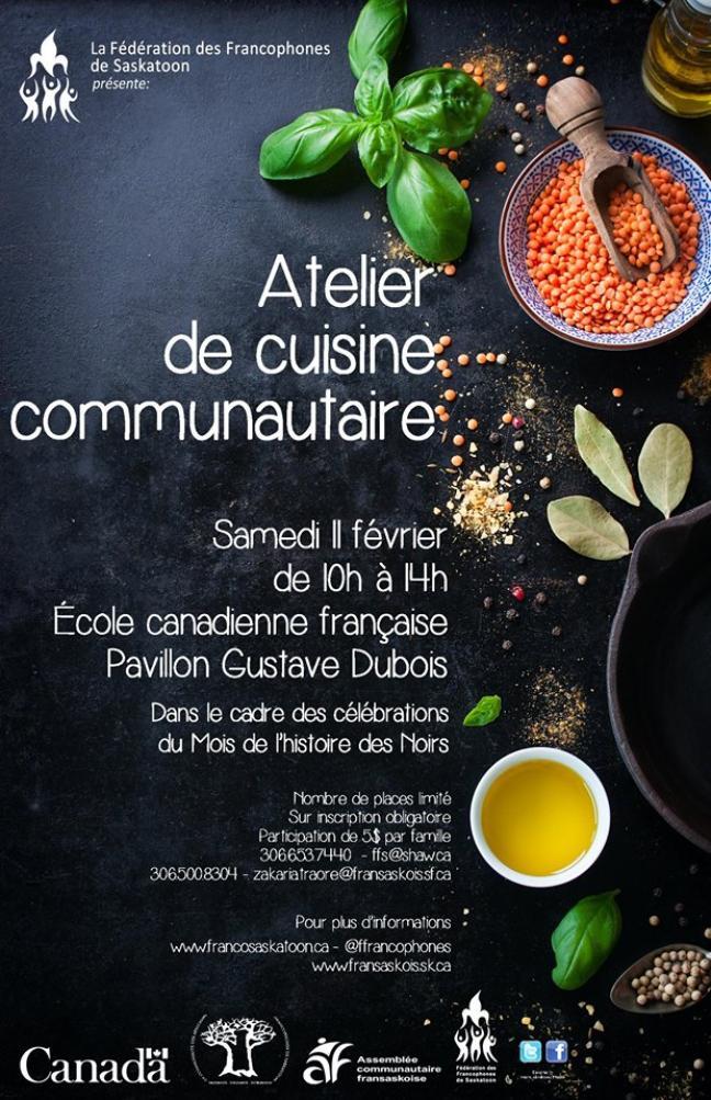 Affiche - Atelier de cuisine communautaire