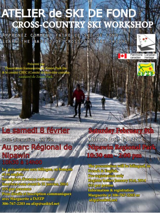 Affiche - Atelier de ski de fond