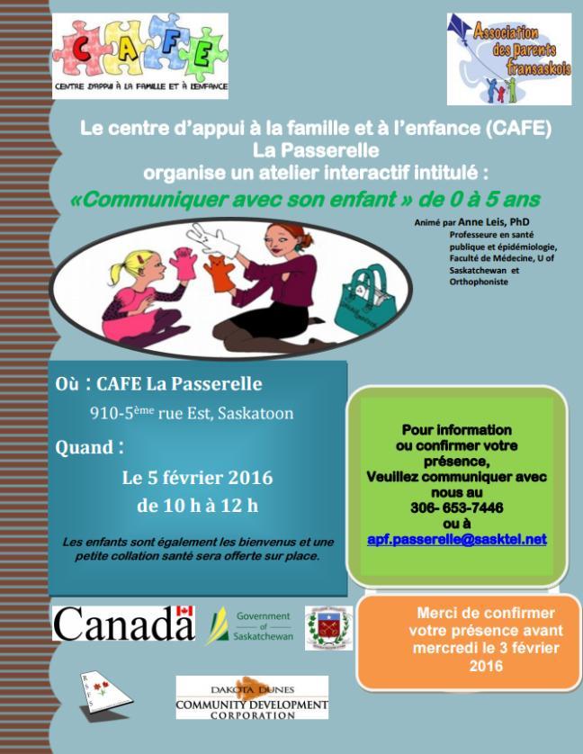 Affiche - Atelier parental: Communiquer avec son enfant