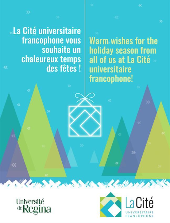Affiche - Ayez un chaleureux temps des fêtes de la Cité universitaire
