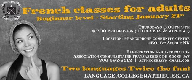 Affiche - Beginner French course