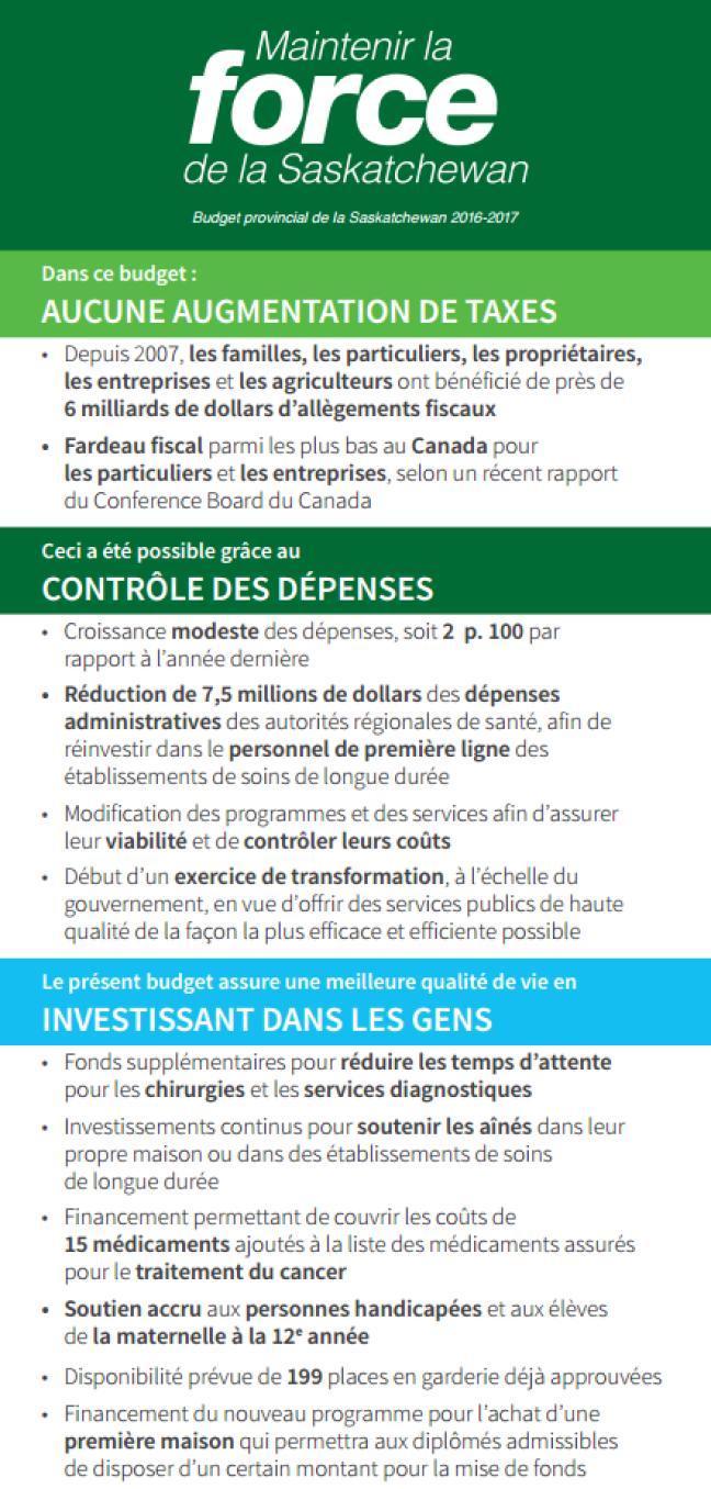 Affiche - Budget 2016-2017
