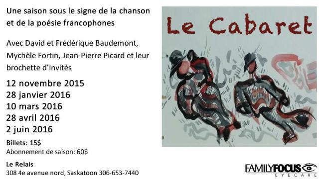 Affiche - Cabarets 2015