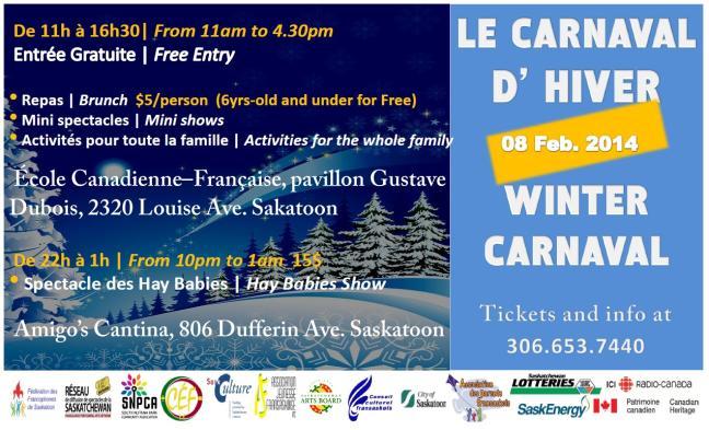 Affiche - Carnaval d'Hiver 2014 - Saskatoon