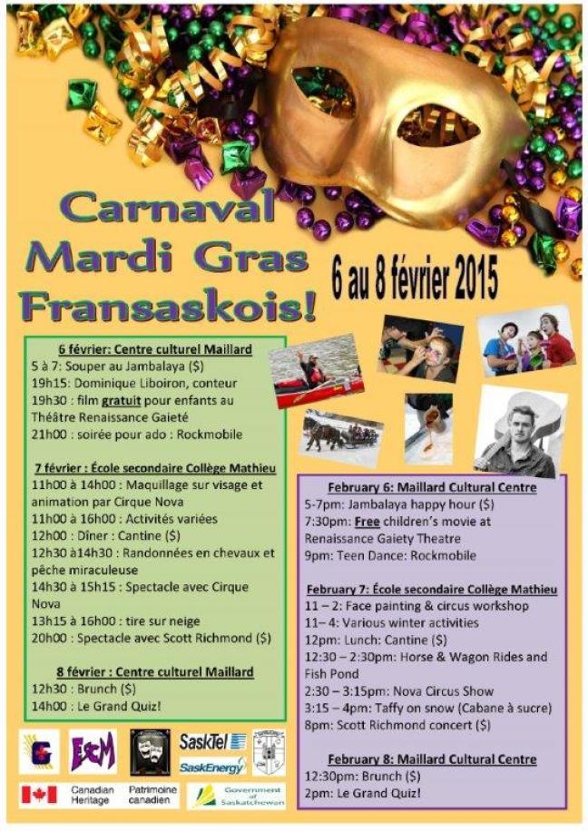 Affiche - Carnaval Mardi Gras fransaskois