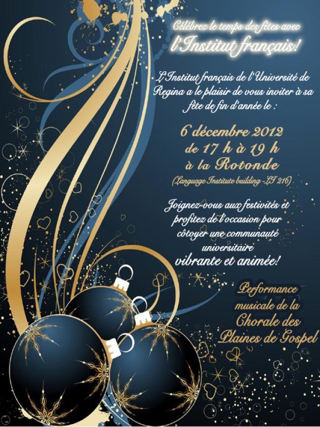 affiche - Célébrez le temps des fêtes avec l'Institut français