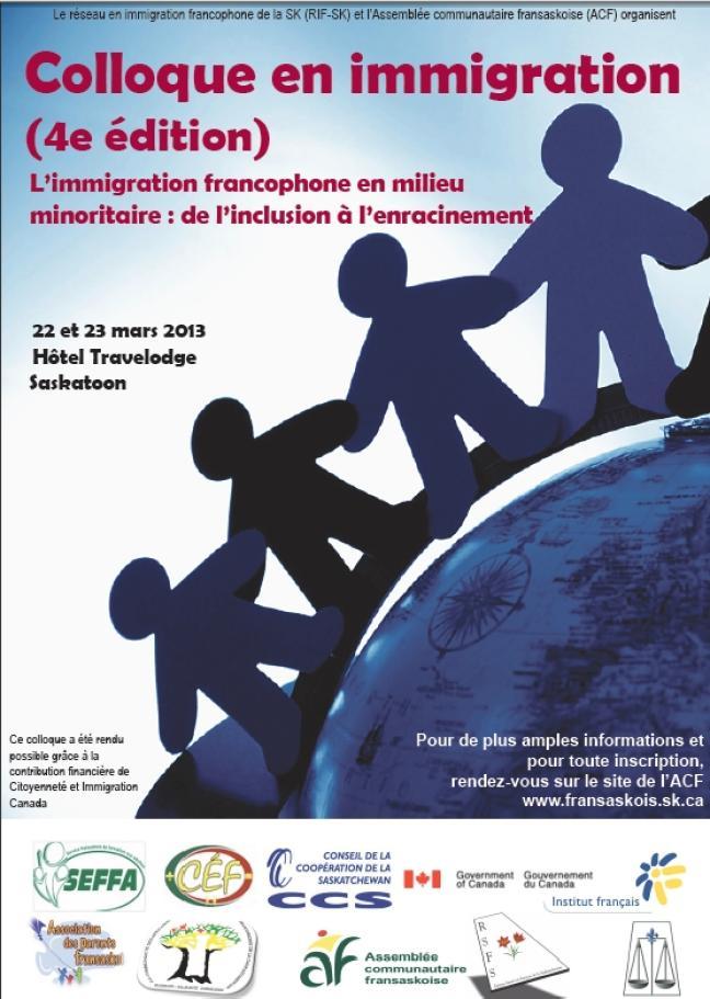 Affiche - Colloque en Immigration francophone