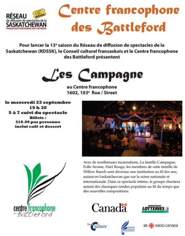 Affiche - Concert avec les Campagnes