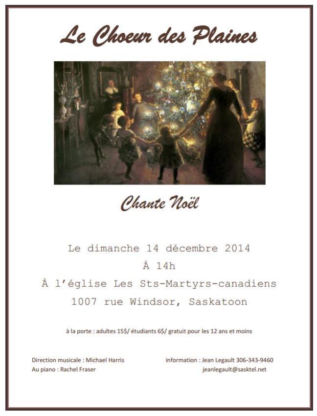 Affiche - Concert de Noël du Choeur des Plaines