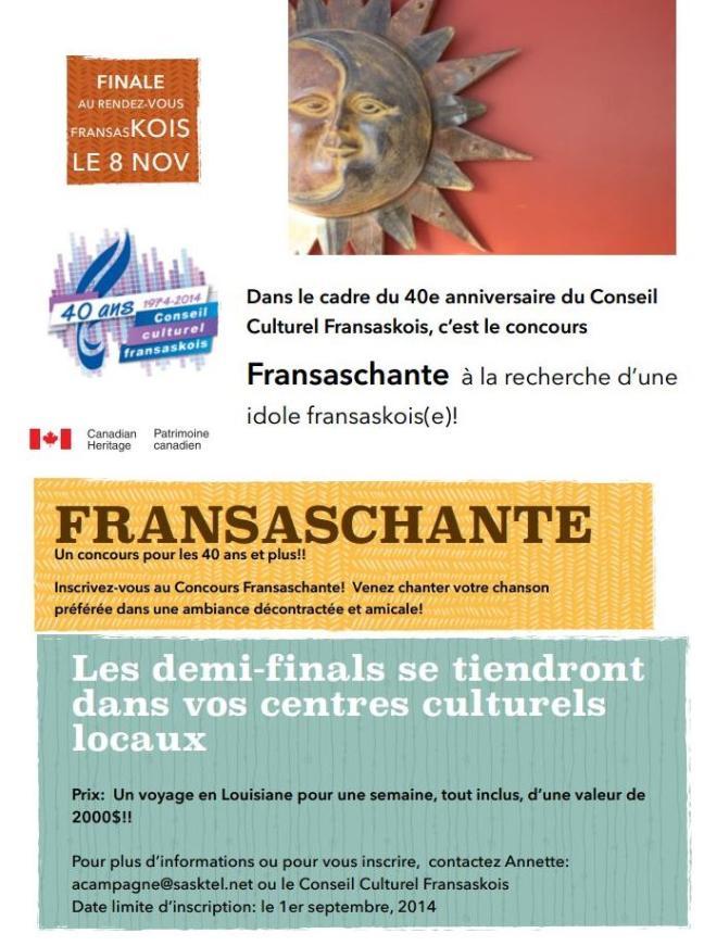Affiche - Concours Fransaschante
