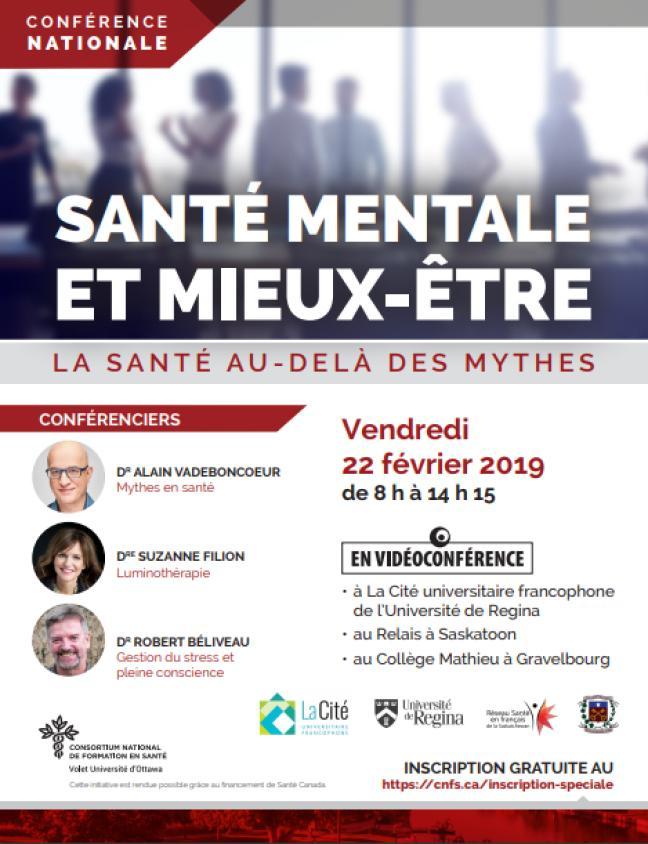 Affiche - Conférence nationale «La santé au-delà des mythes»