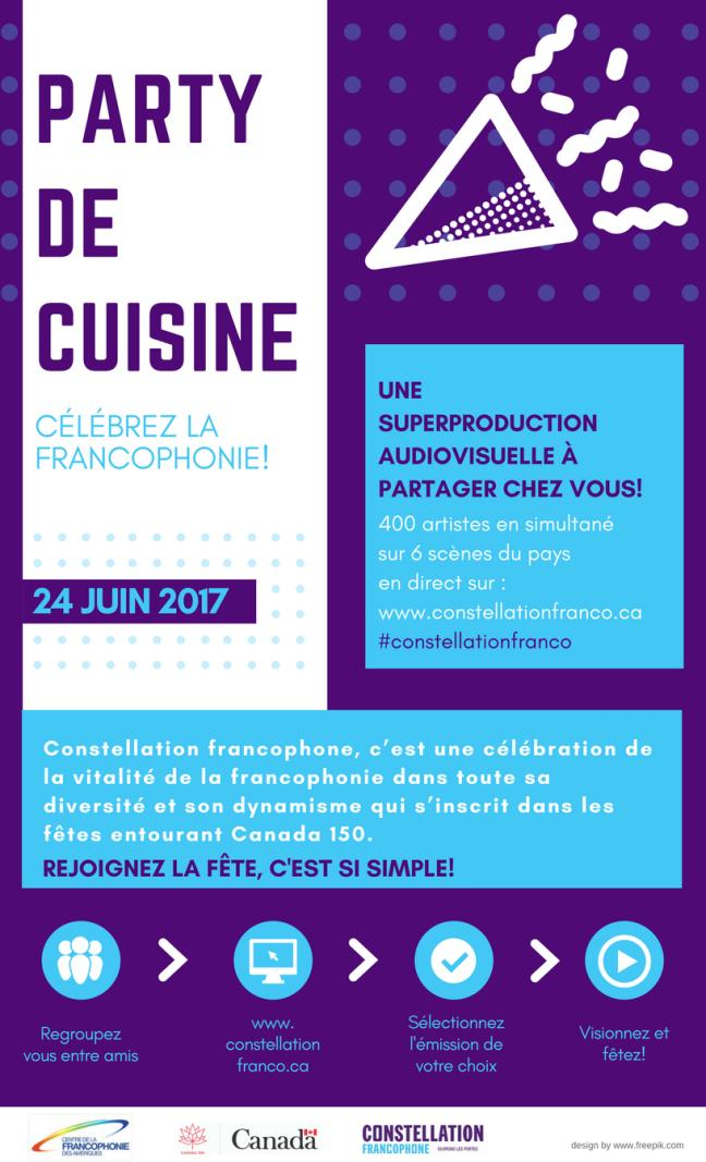 Affiche - Constellation Francophone – ouvrons les portes