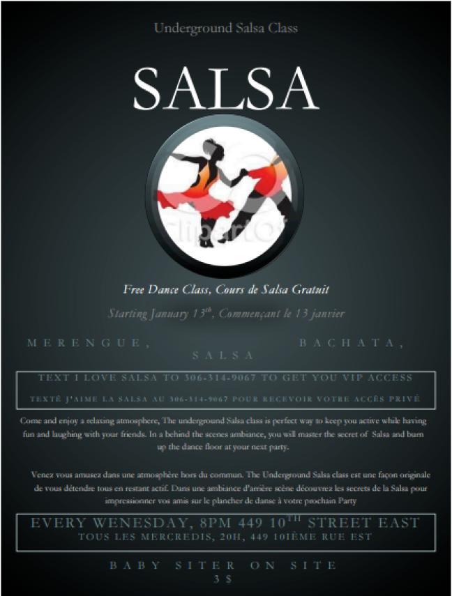 Affiche - Cours de Salsa