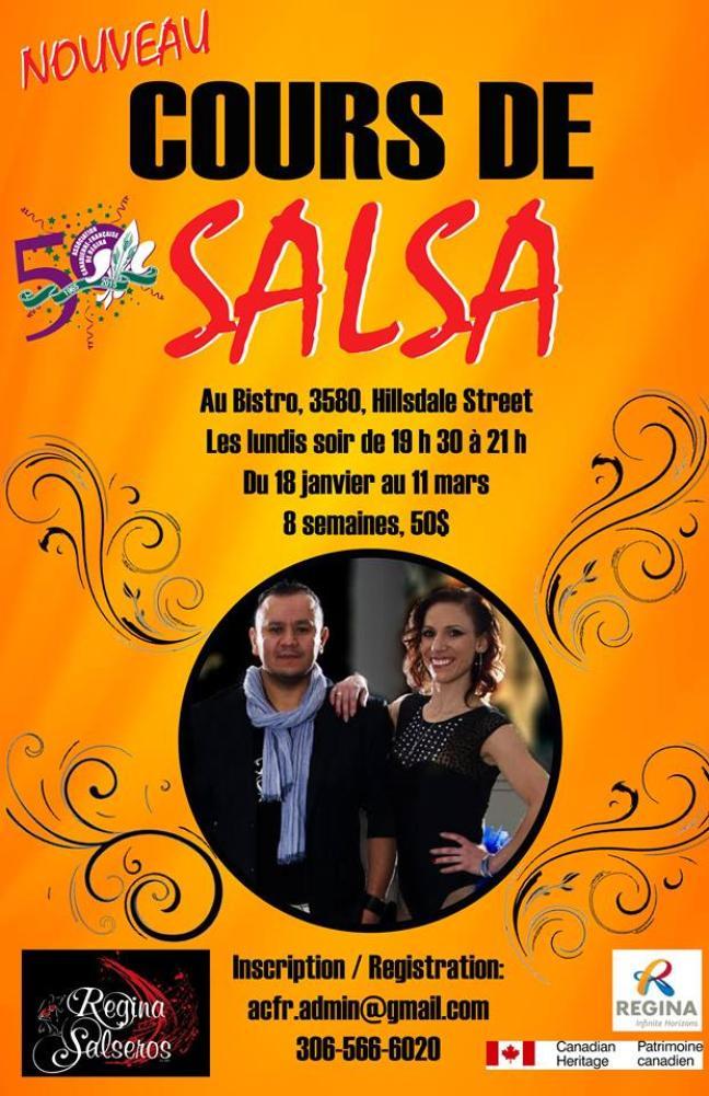 Affiche - Cours de salsa de l'ACFR