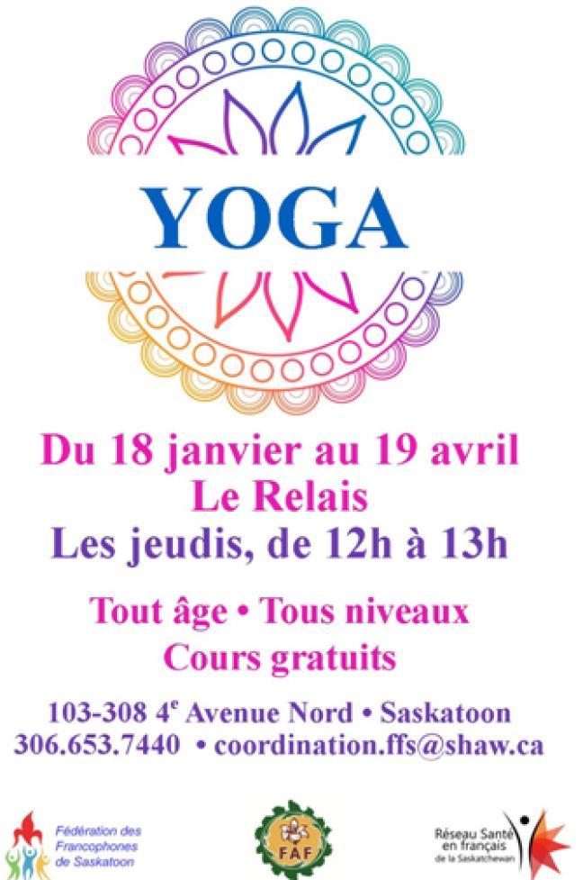 Affiche - Cours de Yoga