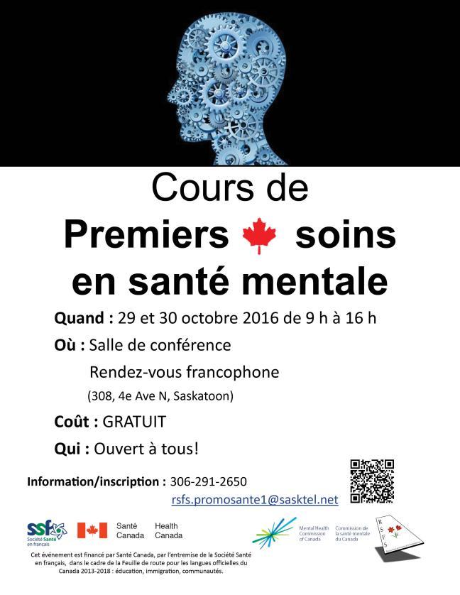 Affiche - Cours Premiers soins en santé mentale