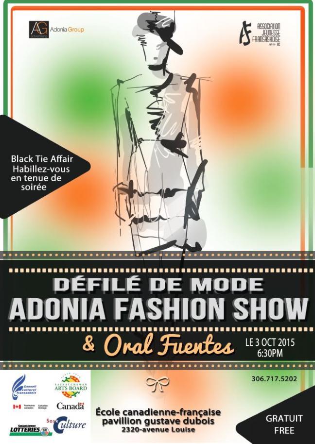Affiche - Défilé de mode - Adonia Fashion Show