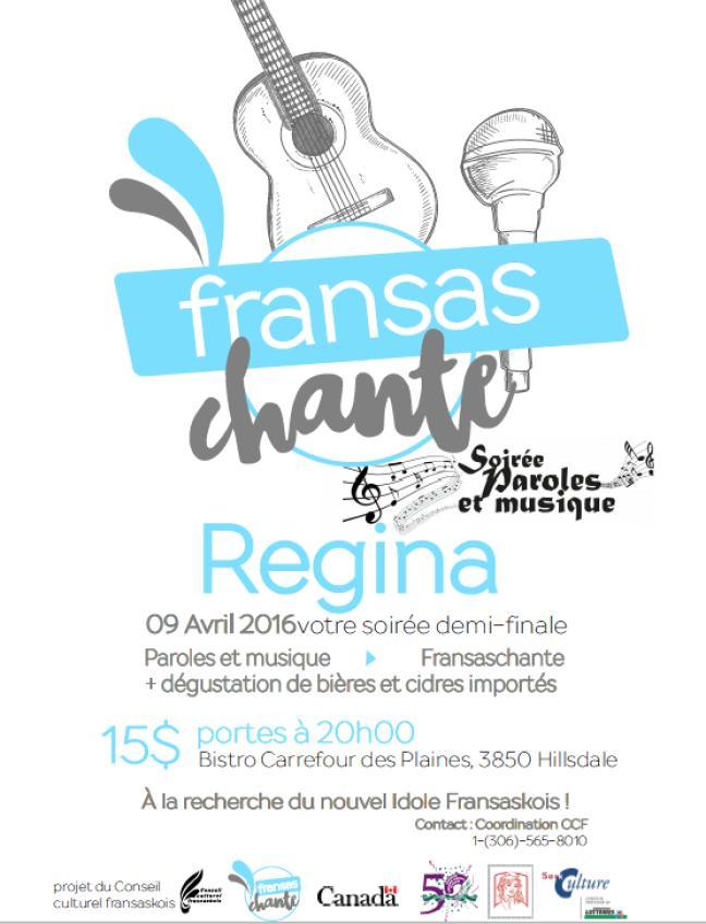 Affiche - Demi-finale de Fransaschante à Regina