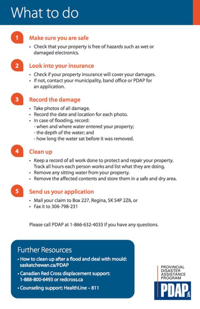 Affiche - État d'urgence: Arborfield et Estevan