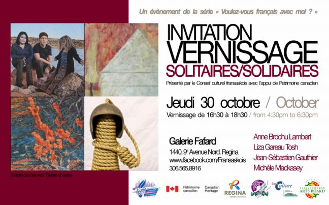 Affiche - exposition Solitaires/Solidaires