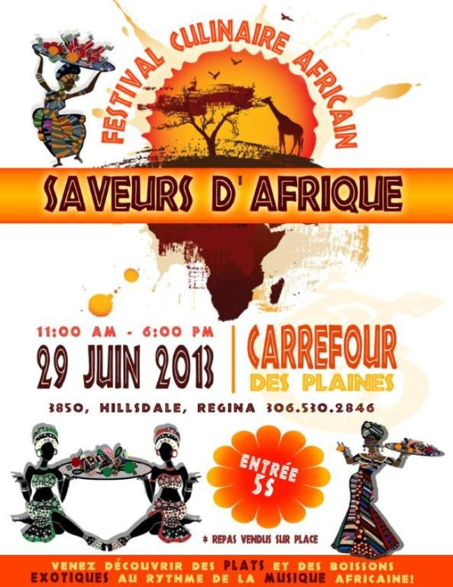 Affiche - Festival culinaire africain
