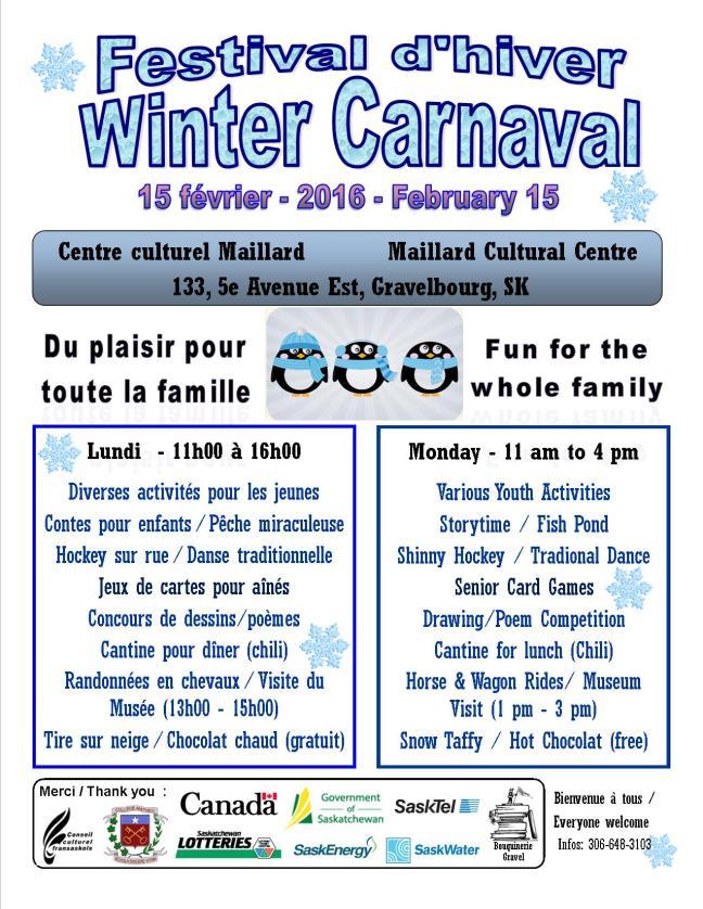 Affiche - Festival d'hiver à Gravelbourg