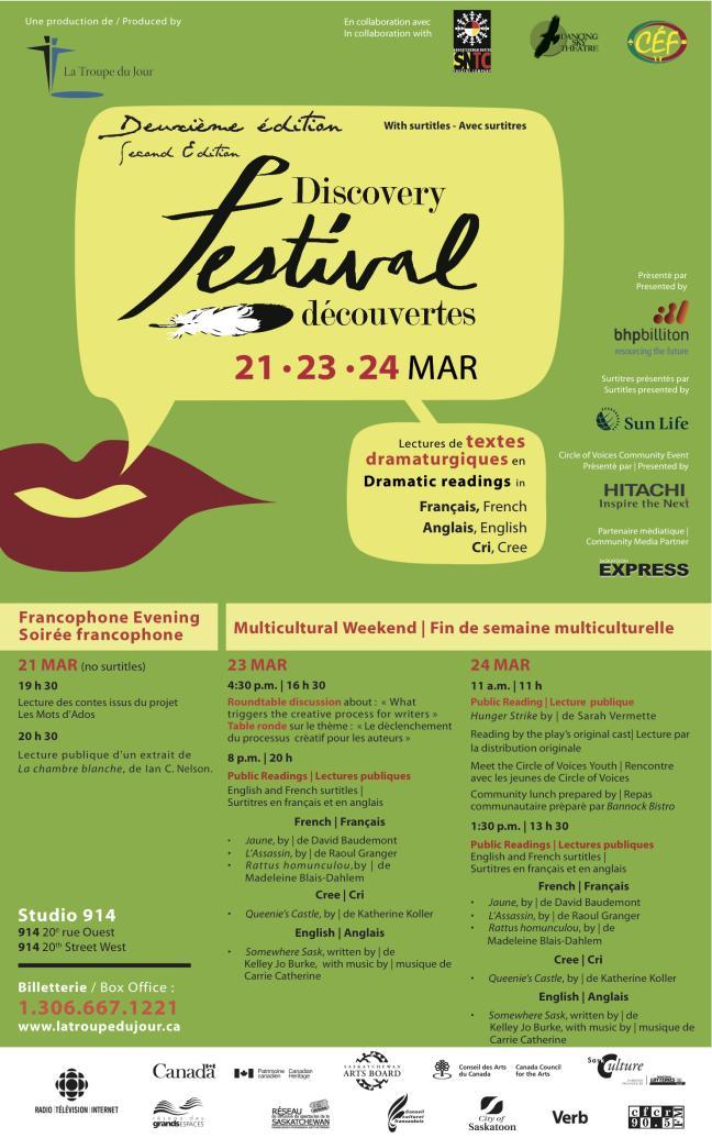 Affiche - Festival découvertes 2013