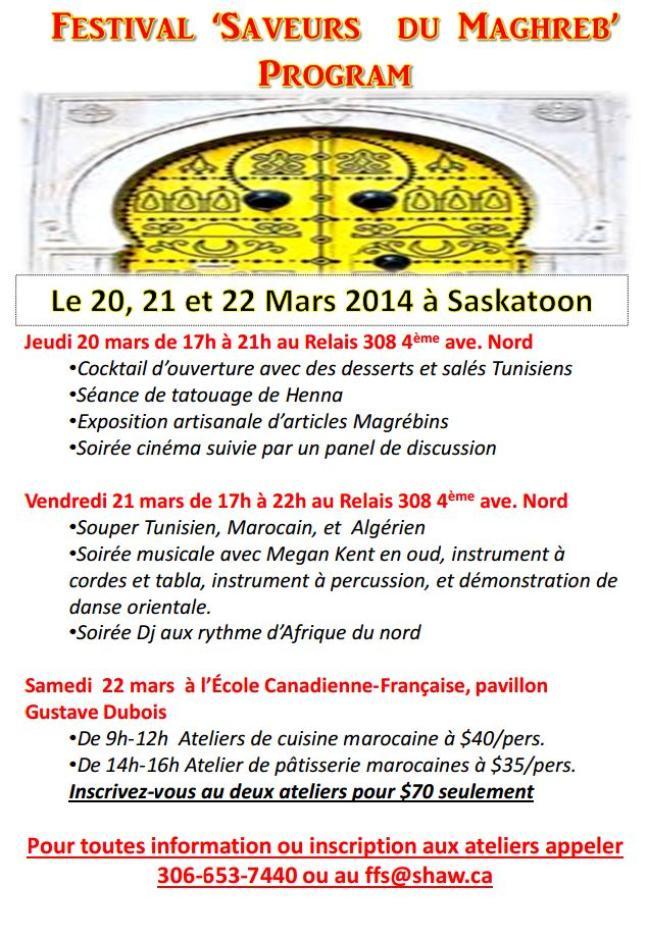 Affiche - Festival [i Saveur du Maghreb]