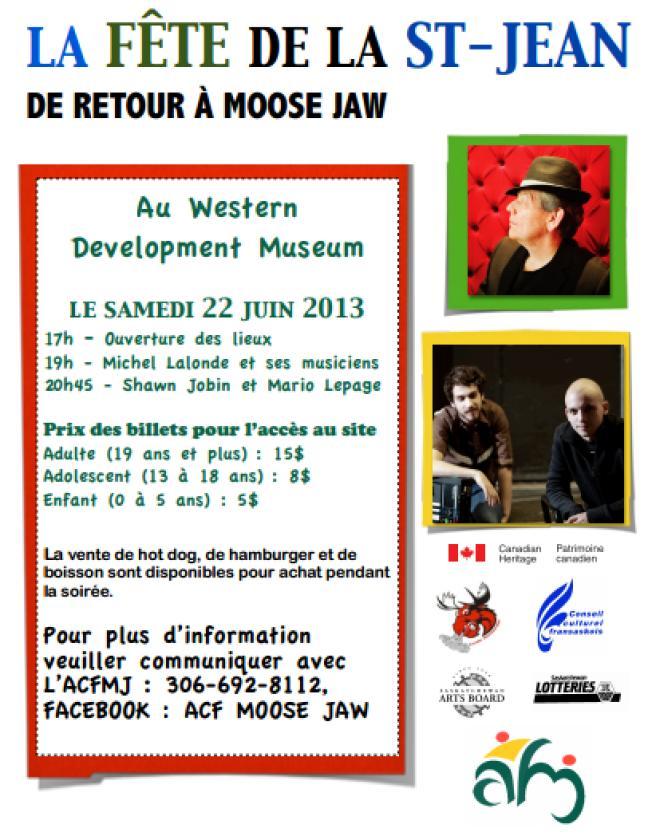 Affiche - Fête de la St-Jean à Moose Jaw