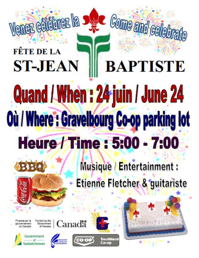 Affiche - Fête de la St-Jean Baptiste de l'ACFG