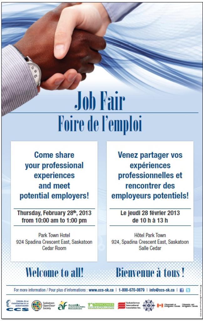 Affiche - Foire de l'emploi, février 2013