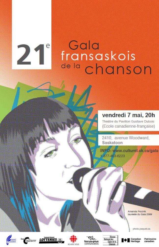 Affiche - Gala fransaskois de la chanson 2010