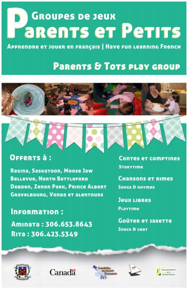 Affiche - Groupes de jeux parents et petits