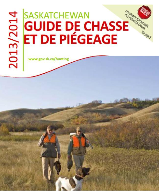 Affiche - Guide de chasse et de piégeage 2013