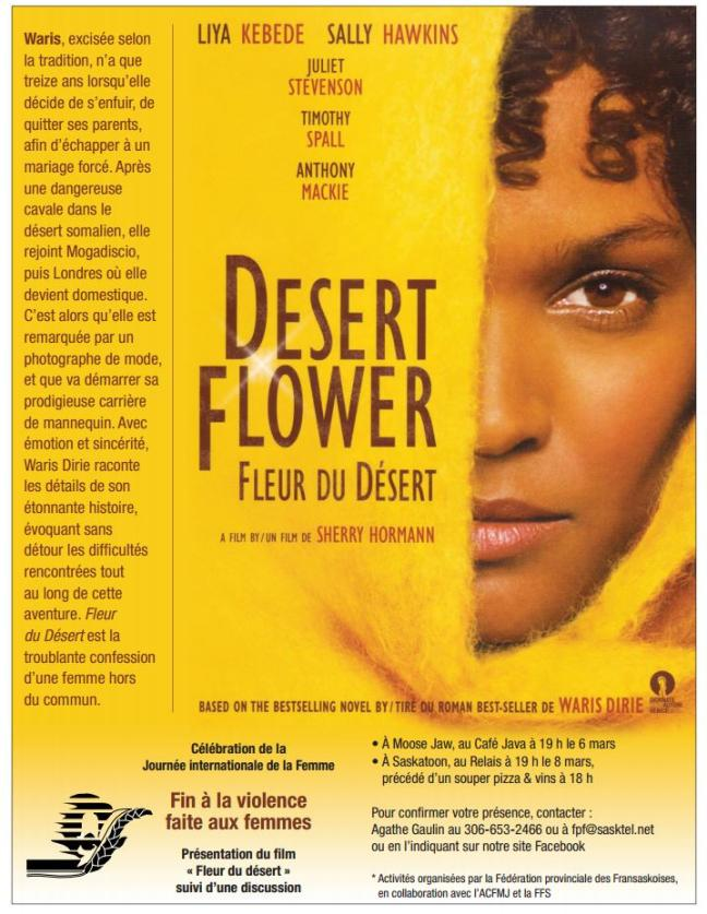 Affiche - [i Fleur du desert] à Saskatoon