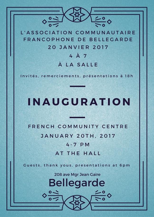 Affiche - Inauguration à l'ACFB