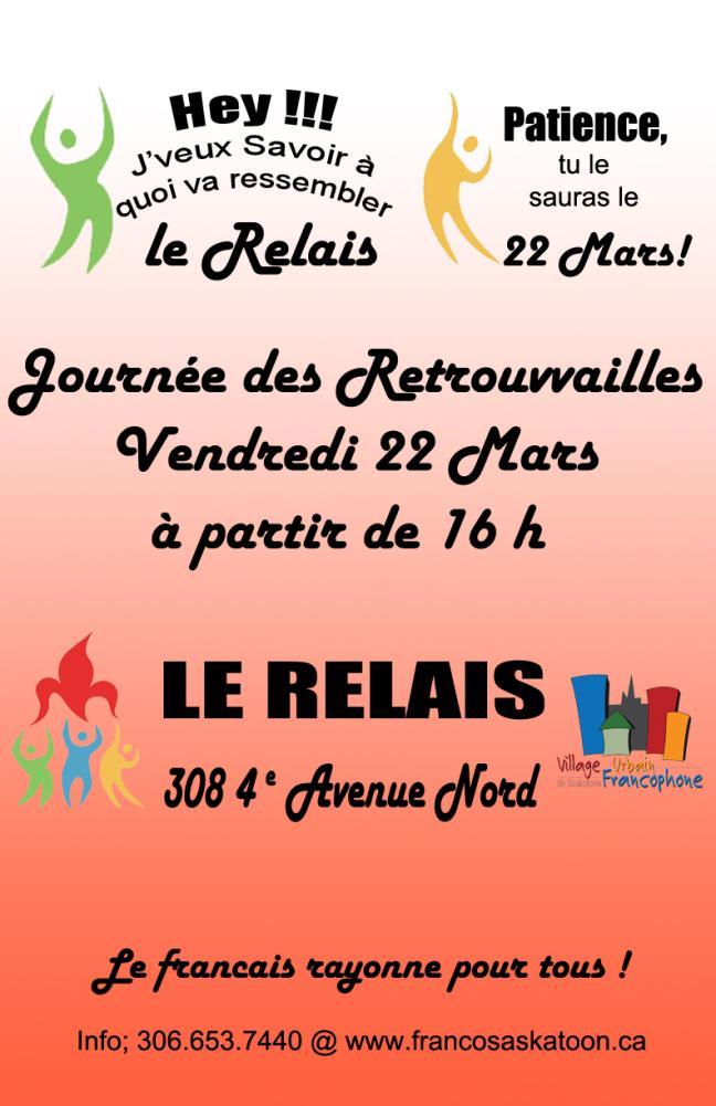 Affiche - Journée de Retrouvailles au Relais - Bénévoles recherchés