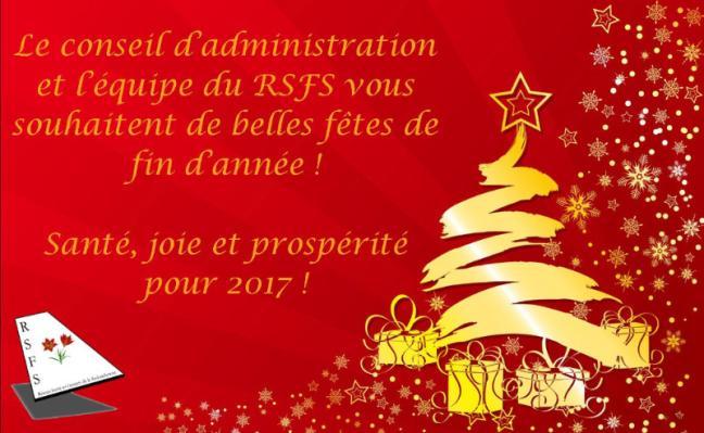 Affiche - Joyeuses fêtes de la part du RSFS