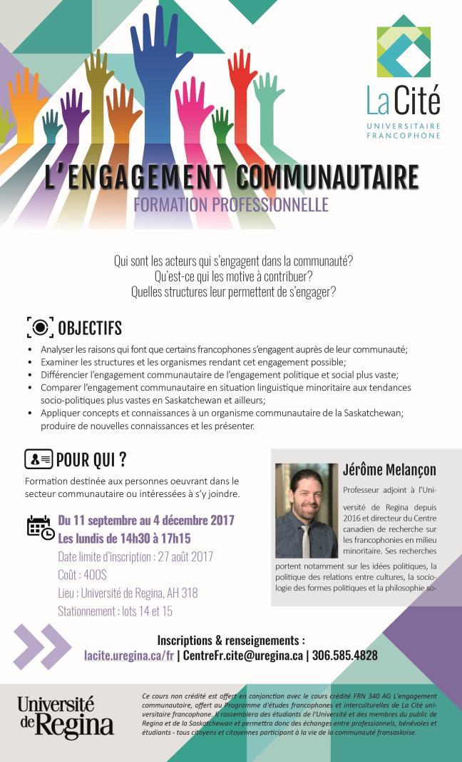 Affiche - L'engagement communautaire