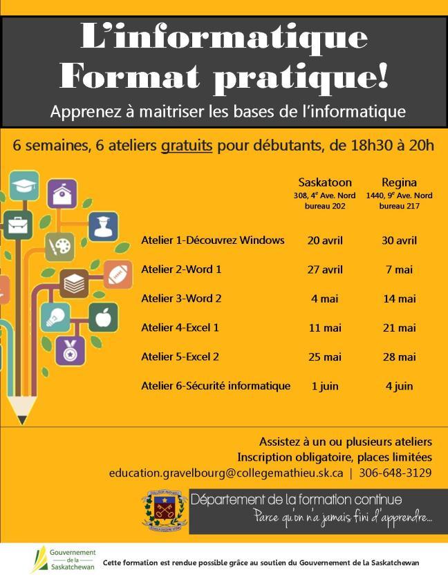 Affiche - L'informatique format pratique!