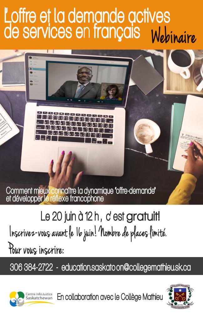 Affiche -  L'offre et la demande actives de services en français