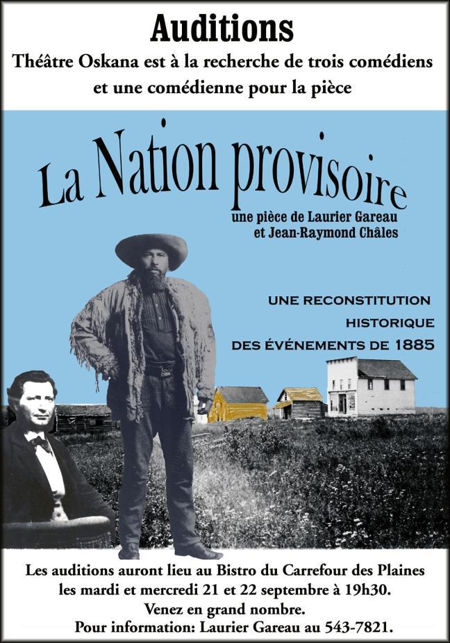 Affiche - La nation provisoire de Laurier Gareau et Jean-Raymond Châles