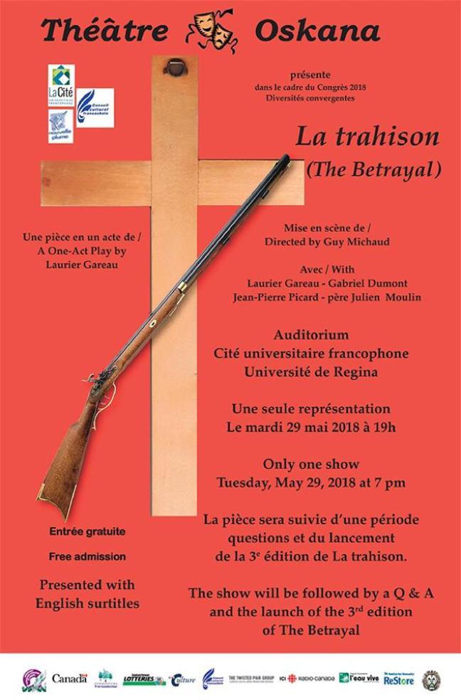 Affiche - La Trahison présentée à la Cité universitaire francophone